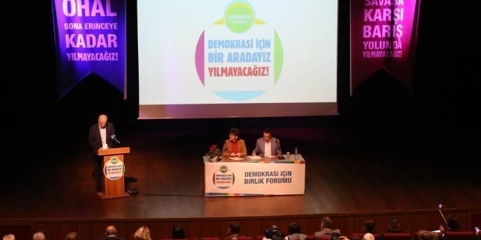 Rıza Türmen: Demokrasi İçin Birlik