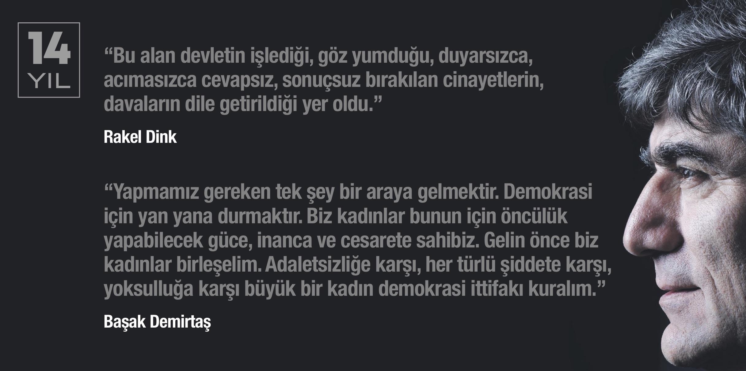HRANT DİNK CİNAYETİNDE 14. YIL